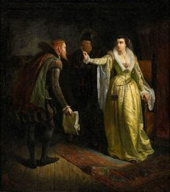 Catherine Jagiellon Shows Wedding Ring to Joran Persson | Hugo Salmson | Oil Painting