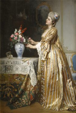 Elegant Lady in an Interior | Hugo Salmson | Oil Painting