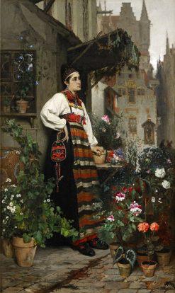 Flower Seller | Hugo Salmson | Oil Painting