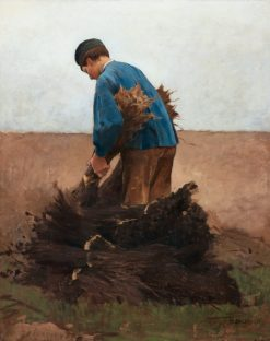 Boy Collecting Poppy | Hugo Salmson | Oil Painting