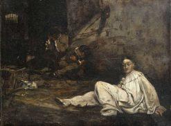 Pierrot dans une geôle | Hugo Salmson | Oil Painting