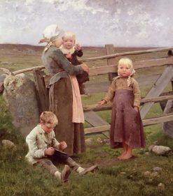 Children Eating Cherries | Hugo Salmson | Oil Painting