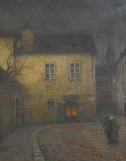 A Street Corner in Prague | Jakub Schikaneder | Oil Painting