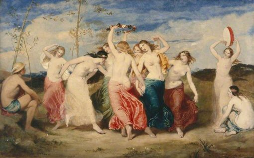Mercury Instructing the Nymphs in Dancing | Frederick Richard Pickersgill | Oil Painting