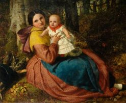 The Artists Son and Nurse | Frederick Richard Pickersgill | Oil Painting