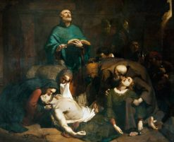 The Burial of Harold at Waltham Abbey | Frederick Richard Pickersgill | Oil Painting