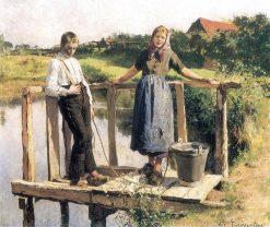 Conversation | Evariste Carpentier | Oil Painting