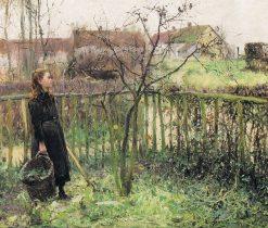 Girl in the Garden | Evariste Carpentier | Oil Painting