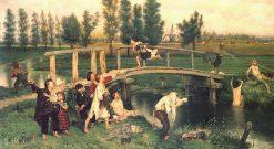 Bathing Forbidden | Evariste Carpentier | Oil Painting