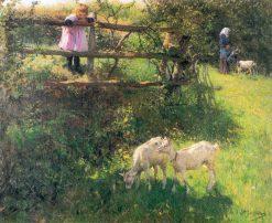 Little Goats | Evariste Carpentier | Oil Painting