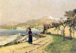 Promenade on the Seashore | Evariste Carpentier | Oil Painting