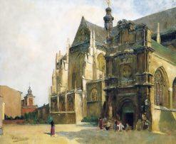 Place Saint-Jacques in Liège | Evariste Carpentier | Oil Painting