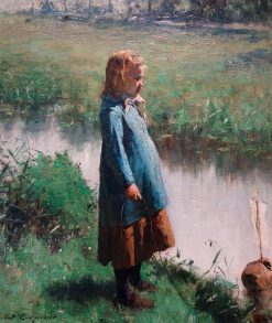 Child Playing | Evariste Carpentier | Oil Painting