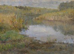 A River in France. Study | Ida von Schulzenheim | Oil Painting