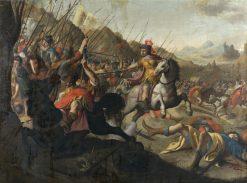 A Roman Battle | Simon Peter Tilemann | Oil Painting