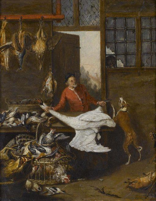 The Game Seller | Pieter Angellis | Oil Painting