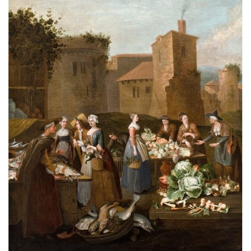 At the Marketplace   Pieter Angellis   Oil Painting