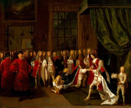 Queen Anne and the Knights of the Garter | Pieter Angellis | Oil Painting