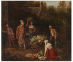 The Vegetable Seller | Pieter Angellis | Oil Painting