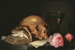 A Vanitas Still-Life with a Skull