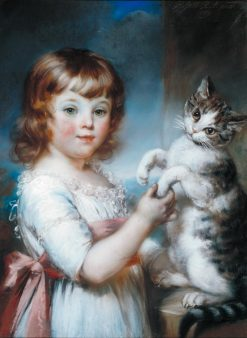 Boy with a Cat | John Russell | Oil Painting