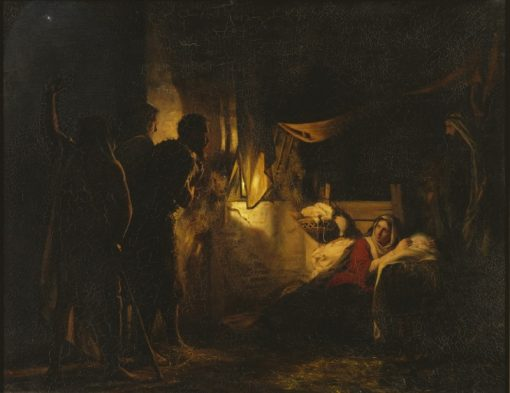 Adoration of the Shepherds   Carl Heinrich Bloch   Oil Painting