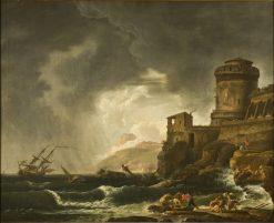 A Shipwreck | Johan Sevenbom | Oil Painting