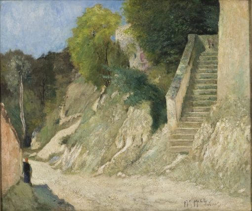 A Steep Ascent in Montigny-sur-Loing | Carl Fredrik Hill | Oil Painting