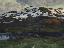 A Summer Evening by Kallsjön | Helmer Osslund | Oil Painting