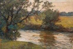 Summer Evening on the River | Paul Eduard Crodel | Oil Painting