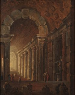 A Vaulted Staircase | Johan Gottlob Brusell | Oil Painting
