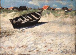 Boat at Skagens South Beach | Oscar Gustaf Bjorck | Oil Painting