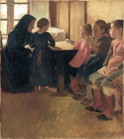 Madam Henriksens school for girls in Skagen | Oscar Gustaf Bjorck | Oil Painting