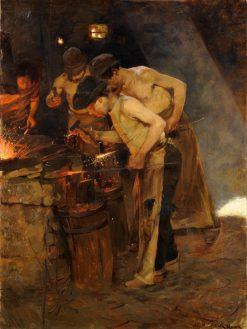 Roman Blacksmiths | Oscar Gustaf Bjorck | Oil Painting