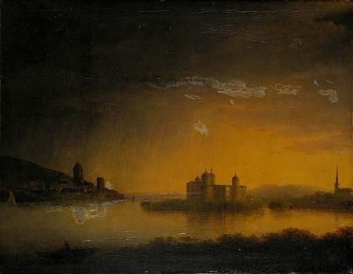 View of Gripsholm Castle   Carl Johan Fahlcrantz   Oil Painting