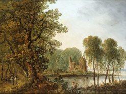 Romantic Landscape with Ruins | Carl Johan Fahlcrantz | Oil Painting