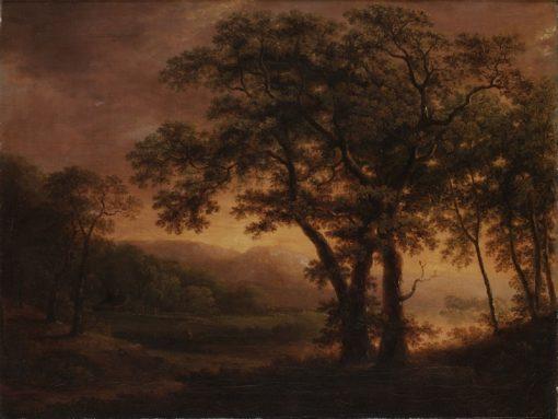 Romantic Landscape   Carl Johan Fahlcrantz   Oil Painting
