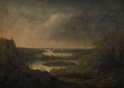 View of Velamsunds Mansion | Carl Johan Fahlcrantz | Oil Painting
