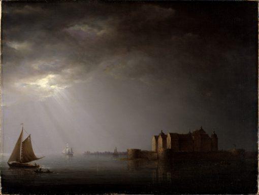 Kalmar Castle by Moonlight | Carl Johan Fahlcrantz | Oil Painting