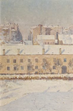 A Winter Scene. Motif from Southern Stockholm | Knut Axel Lindman | Oil Painting