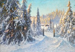 Morning after the Snowfall | Anshelm Schultzberg | Oil Painting