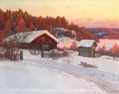 Evening in March. Dalarna | Anshelm Schultzberg | Oil Painting