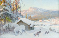 The Mountain Pasture in Winter | Anshelm Schultzberg | Oil Painting