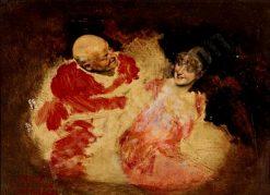 A monk and a young woman | Antonio Casanova y Estorach | Oil Painting