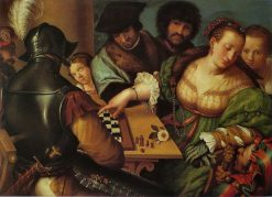 The Chess Game | Giulio Campi | Oil Painting