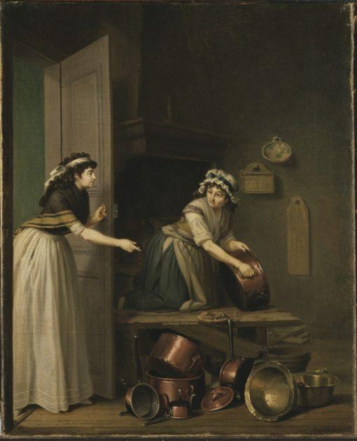 A Woman Furbishing Copper Pans   Pehr Hilleström   Oil Painting