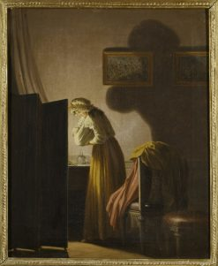 A Woman Picking Fleas by Candlelight | Pehr Hilleström | Oil Painting