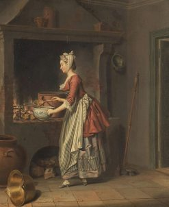 A Maid Taking Soup from a Pot | Pehr Hilleström | Oil Painting