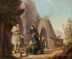The Costumes of the Lapponians   Pehr Hilleström   Oil Painting