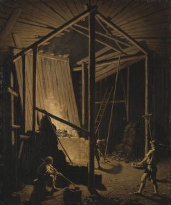 Copper Foundry at the Falun Mine | Pehr Hilleström | Oil Painting